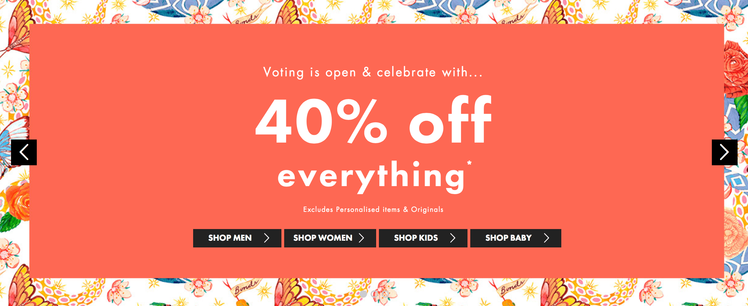 Voting is open and celebrate with... 40% off everything